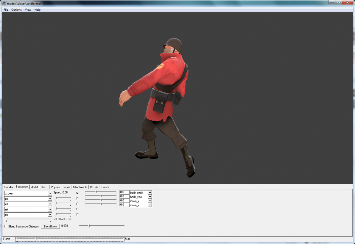 Adding custom animations to a source model lagspike 3d model editor