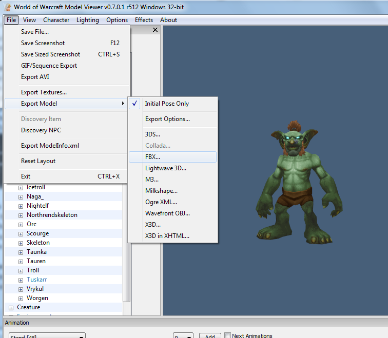 Importing Wow Models With Animations Fbx Into 3ds Max